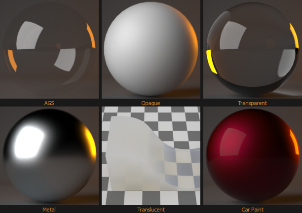 Figure 2: Some of the Material Assistants as thumbnails.